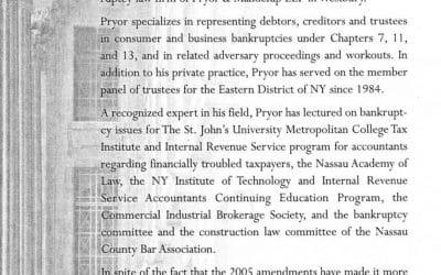 2005 Amendments to Bankruptcy Code