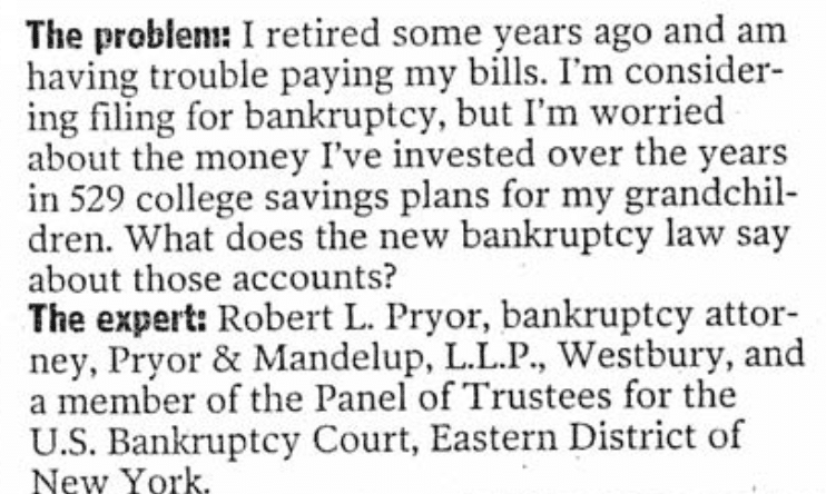 529 Funds and Bankruptcy